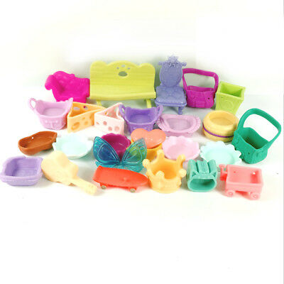 Random 10pcs Littlest Pet Shop LPS  Playset Accessories Sofa Bag Cool Plates