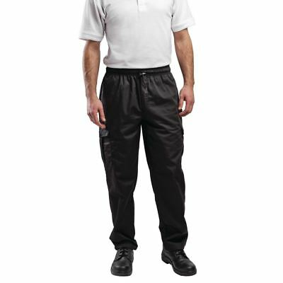 Le Chef Combat Pants Unisex Men Trousers Long Bottoms Workwear Kitchen Black