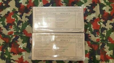 Lot de 2 rations RICR de combat armée française ration pack