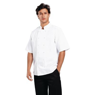 Whites Chefs Apparel Boston Unisex Men Work Short Sleeve Jacket White Coat Top