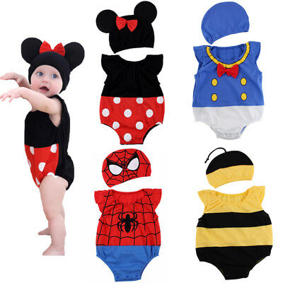 toddler baby girls boys clothes summer  cotton outfits bodysuit playsuit cartoon