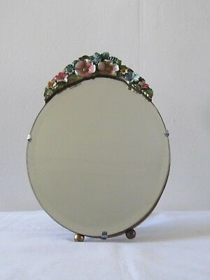 Vintage Barbola Oval Shaped Mirror