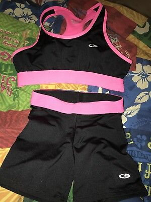 Girls Size 6/6x/7/8 Sports Bra And Spandex Shorts Outfit by Champion