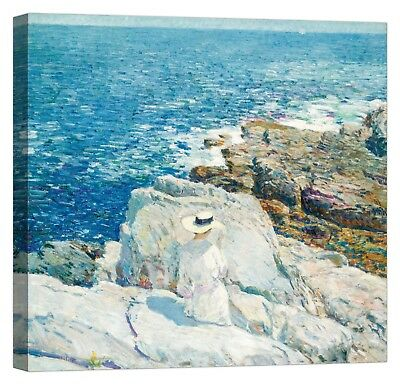 FREDERICK CHILDE HASSAM The South Ledges Stampa su tela Canvas effetto dipinto