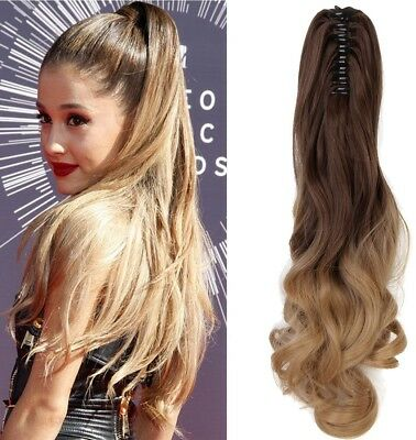 Neverland Beauty 20'(50cm) Ombre Two Tone Long Big Wavy Claw Curly Ponytail in