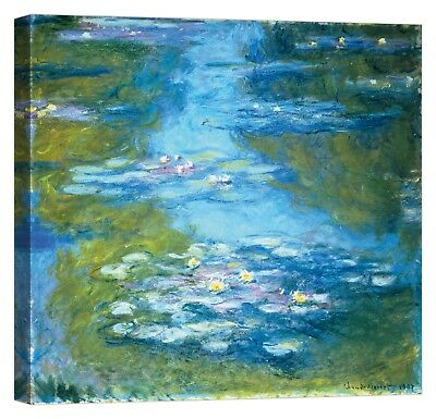 CLAUDE MONET Nympheas Stampa su tela Canvas effetto dipinto