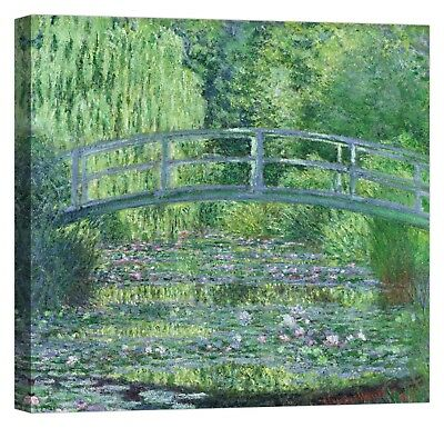 CLAUDE MONET The Waterlily Pond Stampa su tela Canvas effetto dipinto
