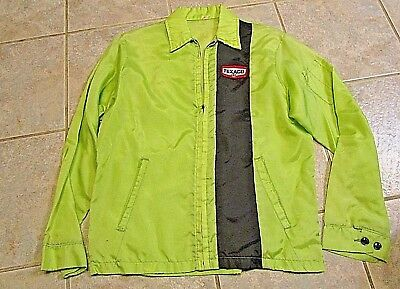 VINTAGE,  Texaco ATTENDANT Work Jacket, LIGHT GREEN, M SIZE