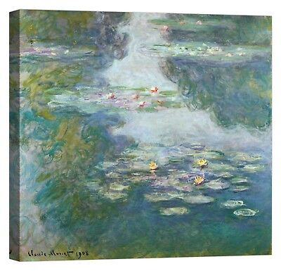 CLAUDE MONET Waterlilies Stampa su tela Canvas effetto dipinto