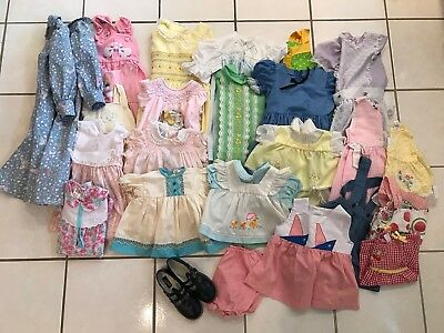 27 Piece LOT Vintage Baby Toddler Girls Dresses 1950's 1960's 1970's
