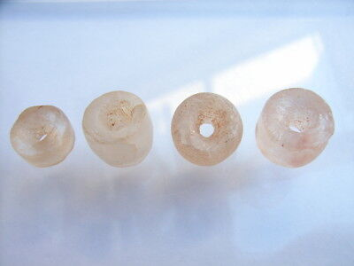 4 Ancient Neolithic Rock Crystal Beads, Stone Age, VERY RARE!  TOP !
