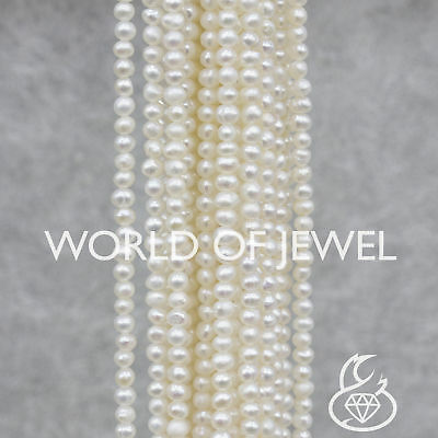 World of Jewel Perle Di Fiume 3,0-3,5mm Bianche