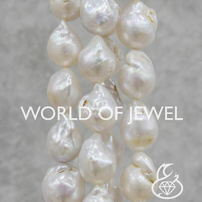 World of Jewel Perle Di Fiume Barocche 100-110gr - Bianco 14-16x16-20mm