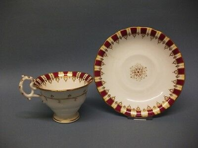A Samuel Alcock(?) Coffee Cup and Saucer. c.1830