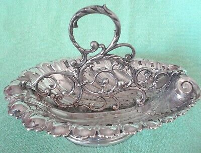 Antique Art Nouveau Wmf Silver Plate Spoon Stand Holder Dish