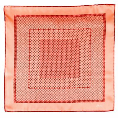 Men's BRIONI Red Hand Made Rolled Silk Pocket Square Handkerchief Hanky NWT