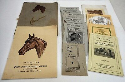 Horse Lovers! Antique Lot, Prof. Jesse Beery—King Of Horse Tamers, 1908, 1909...