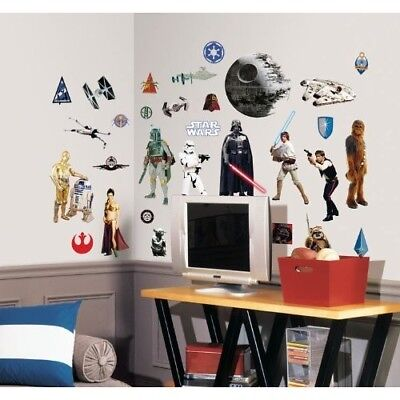 STAR WARS WALL Decals Peel Off Stick Decoration Easy Apply 31 pcs ...