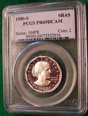 1980 S $1 SBA Susan B Anthony Dollar Proof PCGS PR69DCAM----Free Ship