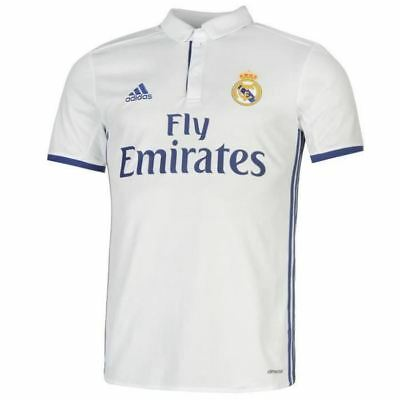 60e26ffc2 ADIDAS MAILLOT REAL Madrid domicile 2016 2017 neuf taille enfant ...