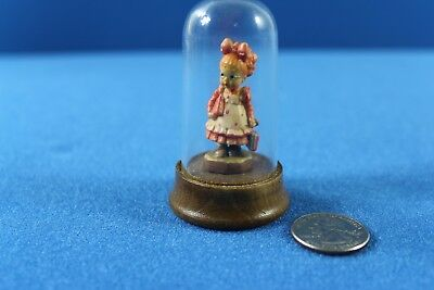 "Vintage ANRI Sarah Kay ""Off to School"" Miniature with Dome"