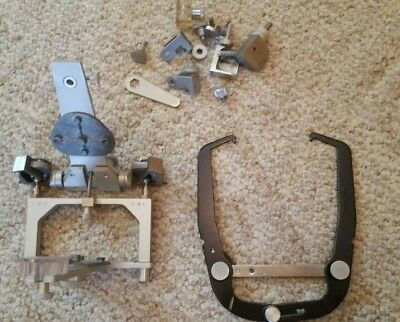 Whipmix Articulator Facebow Mouning Plates  And Misc Parts Good Condition