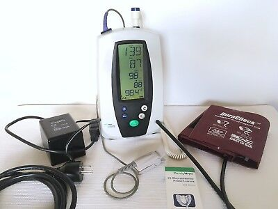 Welch Allyn 420 Series Spot Vital Signs 42NTB SpO2 Temperature NIBP, NEW BATTERY