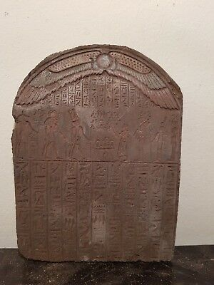 Rare Antique Ancient Egyptian Stela Book Of Dead Magic word Protector1620-1540BC