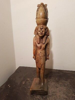 Rare Antique Ancient Egyptian Statue Pharaoh Ramses W Crowned Unified1279–1213BC