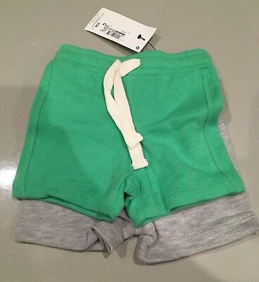 2 Pairs Of Boys M&S Shorts Age 9-12 Months New With Tags!