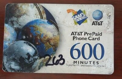 Two (2) AT&T Prepaid Phone Cards- 312 Minutes Left Total- Never Expires