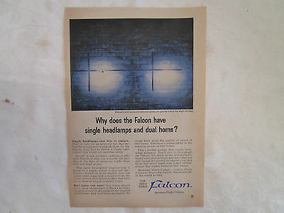 Two 1960 Ford Falcon Original Print Advertisements from March, June 1960