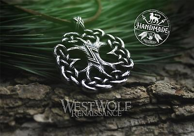 Knotted Tree of Life Pendant - Yggdrasil the World Tree --- Viking/Celtic/Norse