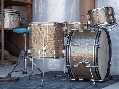 "C&C Cardwell Custom Drums - Gladstone Series Ginger Sparkle 24"" 13"" 16"" 14"""