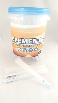 Elements Rice Paper 1 1/4 Size Pre-Rolled Cones (100 Pack) Free Grinder