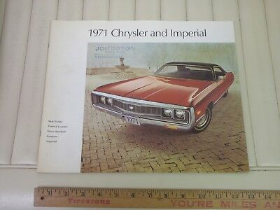 1971 Chrysler & Imperial Full Size Sales Brochure CDN