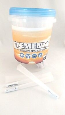 Elements Rice Paper 1 1/4 Size Pre-Rolled Cones (25 Pack)