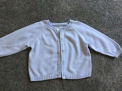 Baby boys blue Mothercare knitted cardigan 3-6 months 17.5 lbs 8 kg