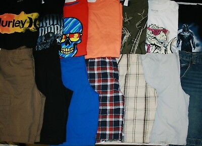 Boys Size 12 Spring/Summer Shorts & Shirts Clothing Lot Of 14 Pieces