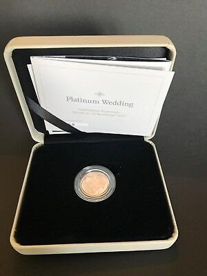 2017 Royal Mint Queens Platinum Wedding Full Gold Sovereign Struck on 20.11.17