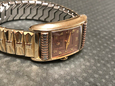 Vintage Longines Art Deco Two Tone Case Rose gold filled and yellow