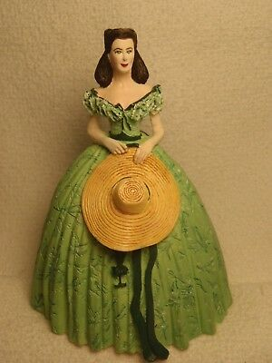 Gone With The Wind Franklin Mint Scarlett O'hara Figurine Mint Condition!!