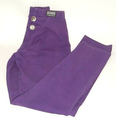 VTG Rough Rider by Circle T Western Rodeo Denim Purple high waist Jeans 9/10