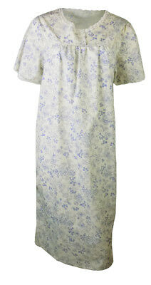 Famous high street stores ladies floral poly cotton nightdress nightwear