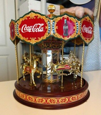 Rare Limited Edition Coca Cola Musical Carousel 1997 Franklin Mint