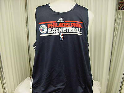 f4bfd70ee1b 2011-2012 Philadelphia 76ers Team Issued Adidas Reversible Practice Jersey  4XL+4