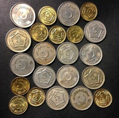 Old Pakistan Coin Lot - 22 ISLAMIC Uncommon Coins - Lot #A18