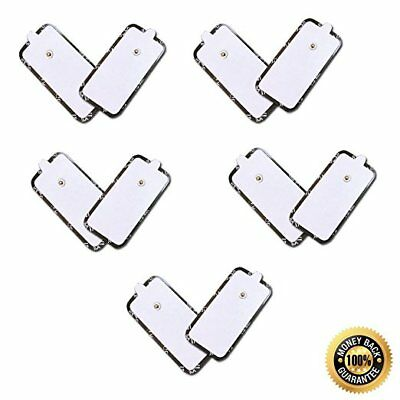 TENS Replacement Pads Electrode Self Adhesive XL Extra Large 5 Pairs (10 Pads)