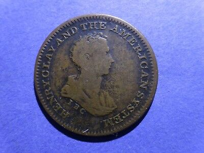 (1840 ND) Hard Times Token HT-79 Henry Clay and the American System