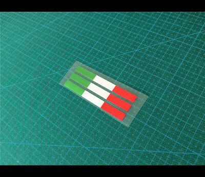 3 Pics Italy Flag Front /helmet DUCATI Reflective Motorcycle sticker_ 80 x 8 mm
